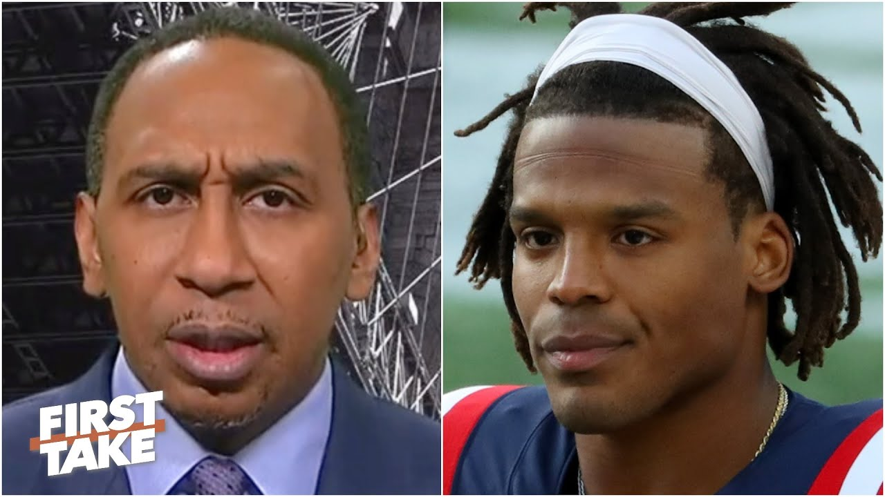 Stephen A. reacts to Cam Newton's incident with a trash-talking camper | First Take