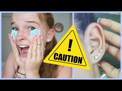 MY SCARY EAR PIERCING EXPERIENCES!
