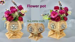 Flower pot making with ice cream sticks || Diy || craft Popsicle stick