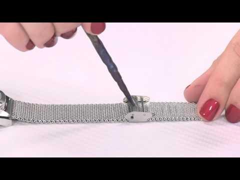 Stainless steel mesh bracelet closure