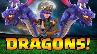 MY NEW FAVORITE STRATEGY?!  TH9 Dark Elixir Time | Queenwalk Dragons | Clash of Clans