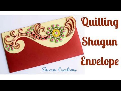 DIY Quilling Envelope/ How to make Quilled Shagun Envelope