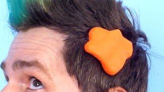 PLAY DOH STUCK IN HAIR!
