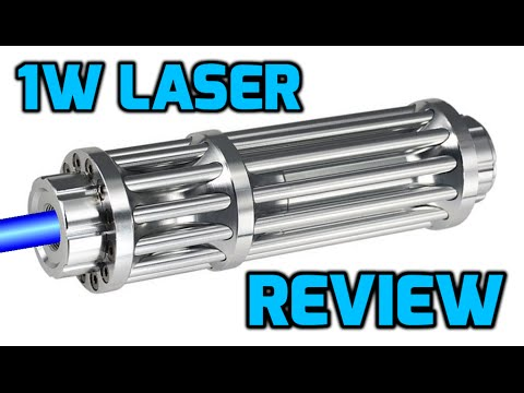1W 445nm / 450nm Blue Burning Laser Pointer Review