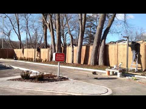 Fence job by Manos handyman Toronto