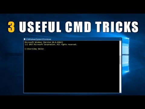3 Useful CMD Tricks 2017