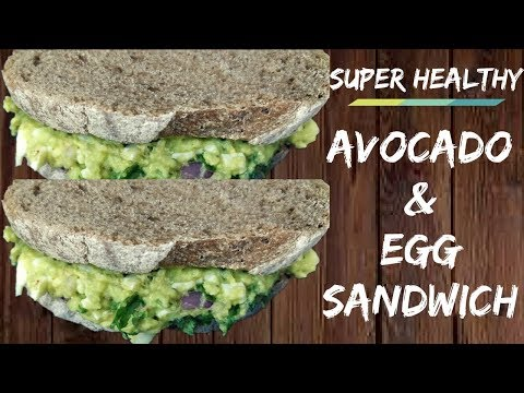Easy and Healthy Avocado and Egg Sandwich | Lose weight fast | Healthy lunch and breakfast ideas