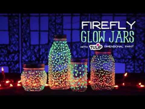 DIY Dotted Glow Jars