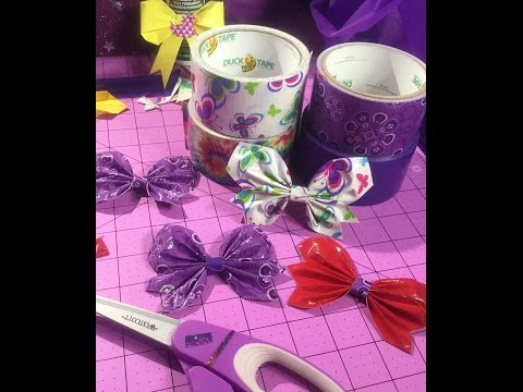 butterfly bows using duct tape