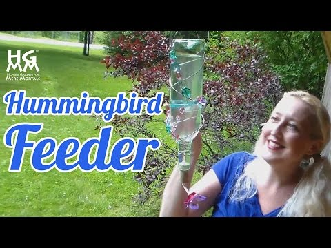 DIY Hummingbird Feeder. Fun Summertime Craft Project for Kids too!