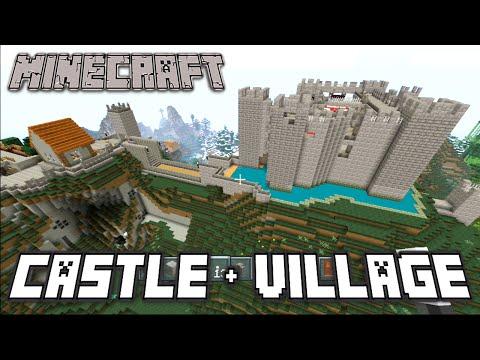 Minecraft - Medieval Castle Tour + Moat & Village!