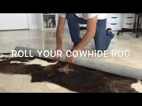 How to Remove the Creases of your Cowhide Rug