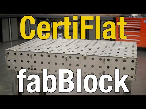 CertiFlat Welding & Fabrication Tables: FabBlock - Perfect Solution for Metal Fab - Eastwood