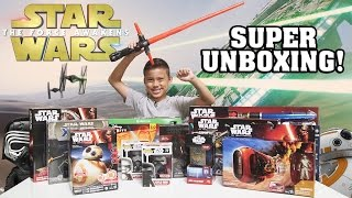 STAR WARS Super TOY Unboxing!!! The Force Awakens Surprise Box!