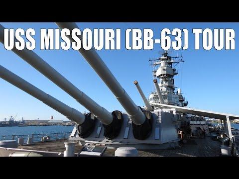 Battleship USS Missouri (BB-63) Video Tour Pearl Harbor, Hawaii