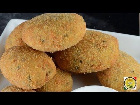 Crispy Chicken Cutlets  - By Vahchef @ vahrehvah.com