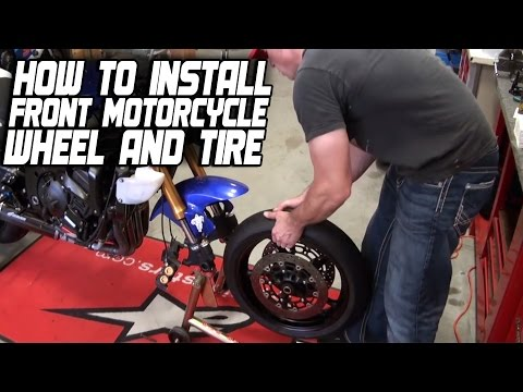 How To Install a Front Motorcycle Wheel and Tire from SportbikeTrackGear.com