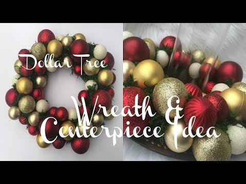 DIY DOLLAR TREE CHRISTMAS WREATH | CENTERPIECE IDEA