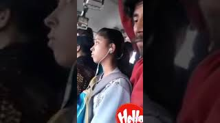 Metro Bus Station in India Mobile video clip.2019