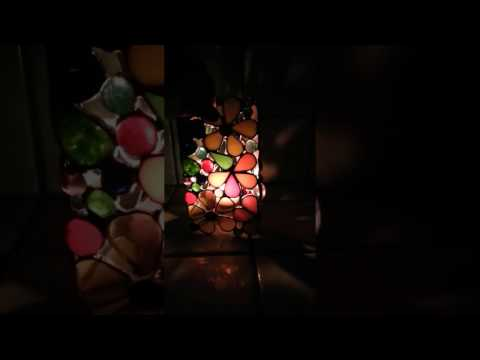Stained Glass Floral Candle Holder