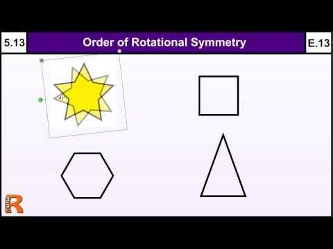 5.13 Order of Rotational Symmetry - Basic Maths GCSE Core Skills Level 5 & Grade E