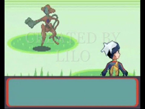 Pokemon Ruby with Deoxys, Wallhack, infinite Master Balls, infinite Rare Candy