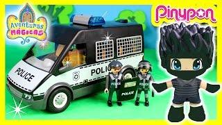 PLAYMOBIL PATRULLA de POLICIA persigue al LADRÓN en Mundo Juguetes * Videos de juguetes en español