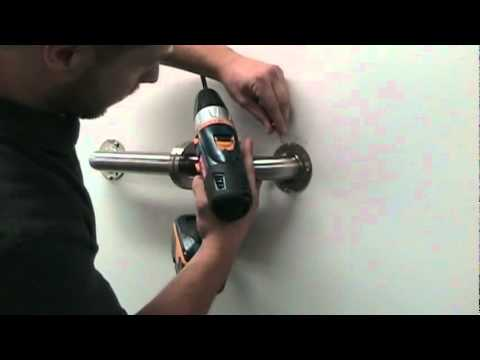 Horizontal Grab Bar Installation - Keeney Manufacturing