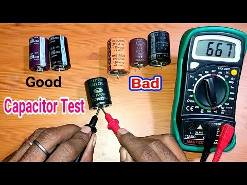 Testing Of Capacitor Bad Or Good   in Hindi.