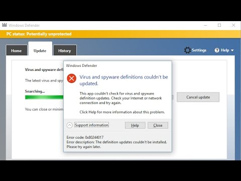 How to Fix Windows Defender not updating problem { Solved }