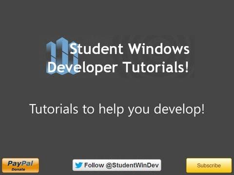 Windows Phone 8 Development - Tutorial 1 - New Application