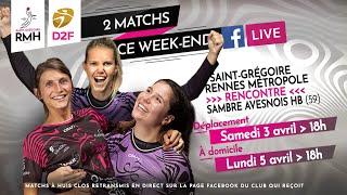 Match D2F du lundi 5 avril 2021 : SGRMH vs Sambre Avesnois HB