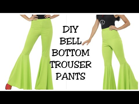 Bell Bottom Trouser Pants Cutting And Stitching Very Easy Method | (HINDI)