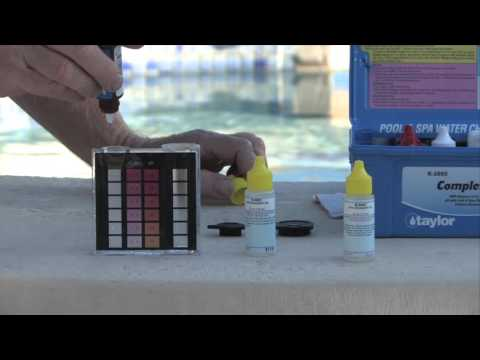 How to Test for Free Chlorine with a Taylor Test Kit