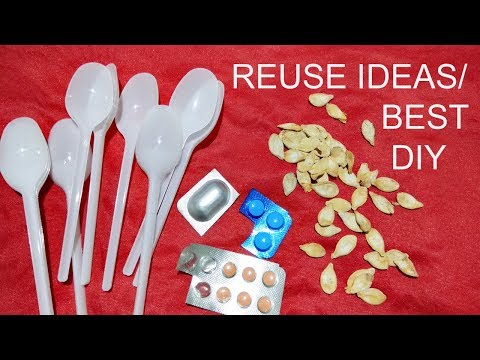 Waste Material Craft for Decoration/creative art/Spoon Crafts/Wall hanging/Reuse ideas/Handmade DIY