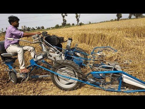गेहू / धान  कटाई व बंधाई मशीन की समीक्षा    Reaper Binder Review   Paddy / Wheat Crop Cutter