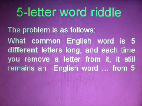 5-letter word riddle