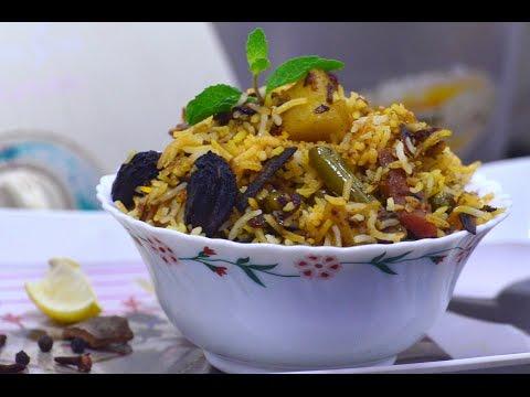 Veg Dum biryani in detail step by step in marathi / व्हेज दम बिर्यानी