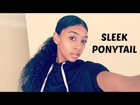 How to : Sleek Low Curly Ponytail on Natural Hair (  REAL HAIR OR WEAVE ?! )