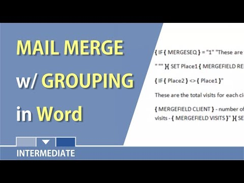 Mail Merge in Word with Grouping records by Chris Menard