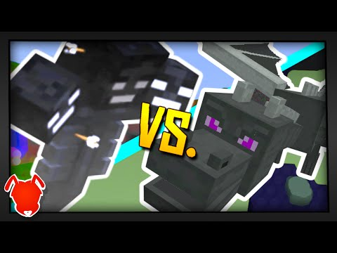 WITHER vs. ENDER-DRAGON! - Minecraft Mob Battle! (1.9 Fight)