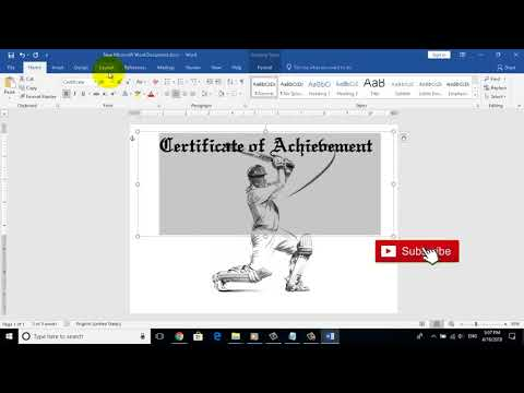 How to make Sports Certificate in MS Word