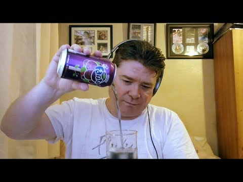 ASMR Drinking A Glass Of Ice Cold Fanta Grape 🍇 Ice Swirling 💫 Gulping 👄 Can/Glass Tapping Sounds