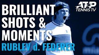 Andrey Rublev Stuns Roger Federer With Brilliant Win! | Cincinnati 2019