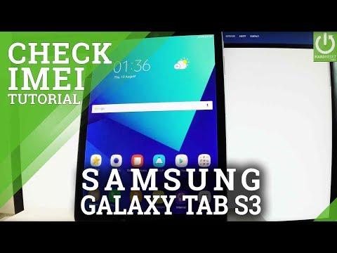 SAMSUNG Galaxy Tab S3 CHECK IMEI / Read IMEI Info