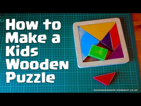 How to Make a Kids Wooden Puzzle
