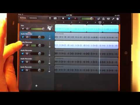 GarageBand for iPad Tutorial 4: How to Create Practice Tracks Using Loops
