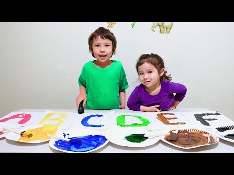 Learn ABC with Painting Letters - Fun Learning Activity for Toddlers and Children