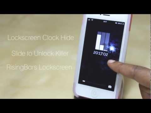 Rising Bars Lockscreen and How to Hide your Lockscreen Clock