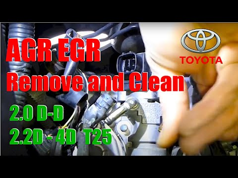 AGR  EGR  remove and clean valve  2.0D-d Toyota
